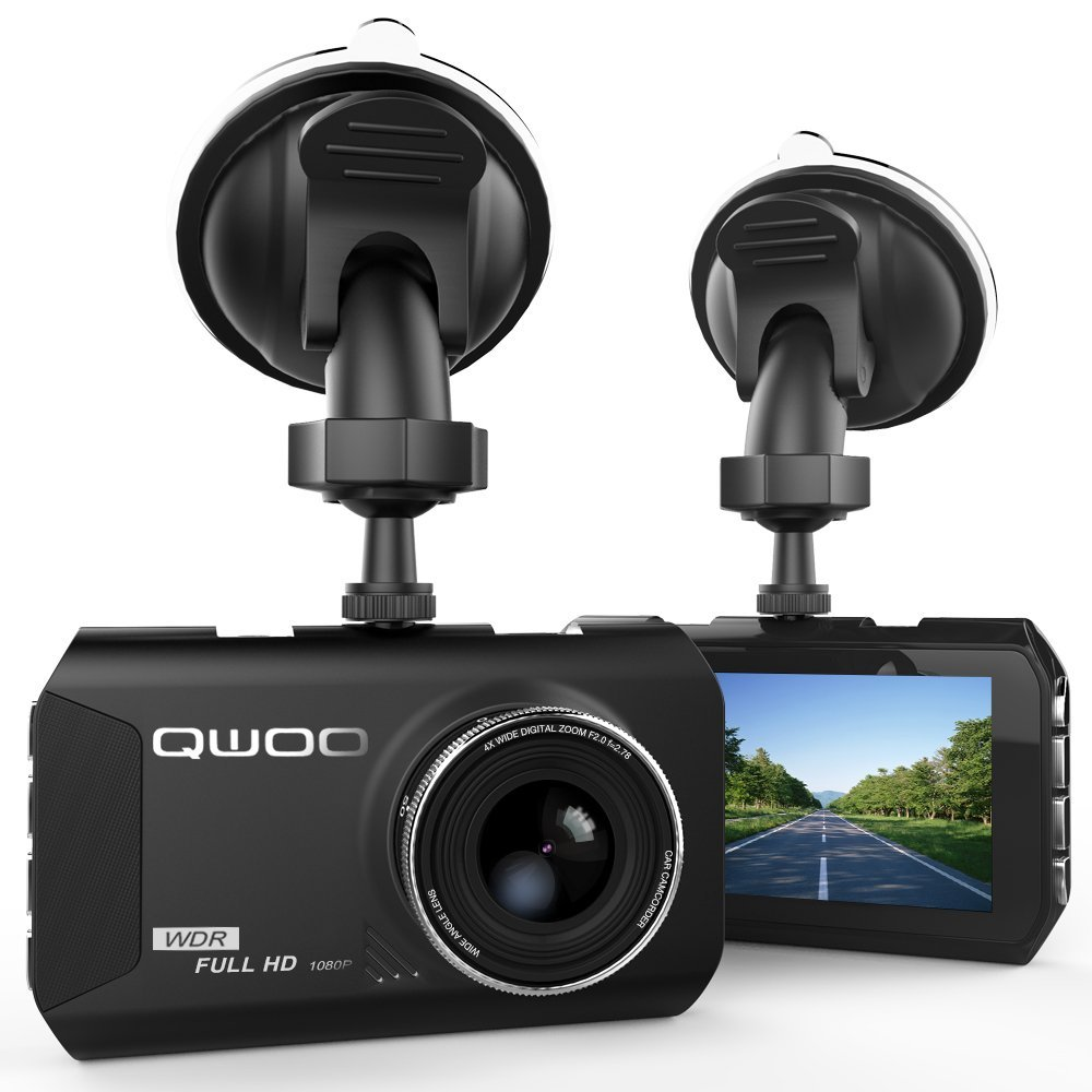 qwoo 1080p 3 lcd car dashboard dash camera review. Black Bedroom Furniture Sets. Home Design Ideas
