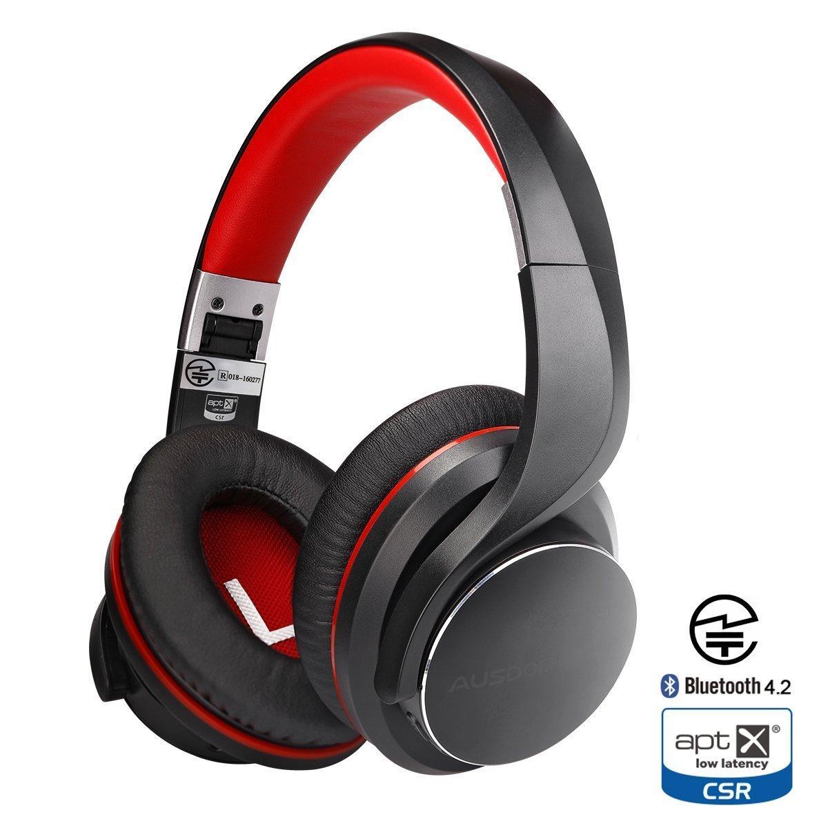 ausdom ah3 wireless bluetooth headphones headset review. Black Bedroom Furniture Sets. Home Design Ideas